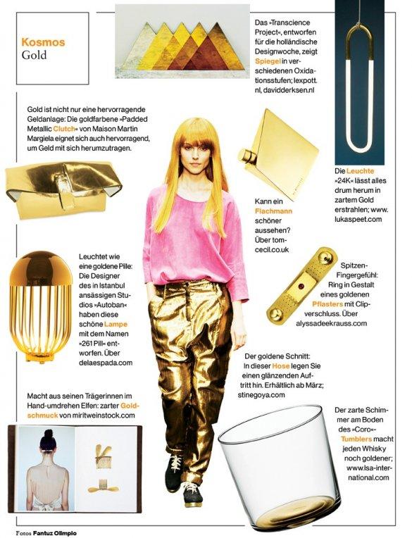 Süddeutsche Zeitung Magazin Kosmos Gold feature